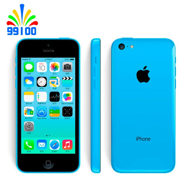 Original 100%  Apple iPhone 5C Unlocked Dual Core cell phone 8GB/16GB/32GB ROM WCDMA 3G used phone