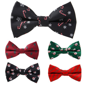 RBOCOTT Christmas Bow Tie Men's Fashion Black Bowtie Red For Festival Green Tree Santa Claus Snowflake Bow Ties For Accessories - 64 Corp