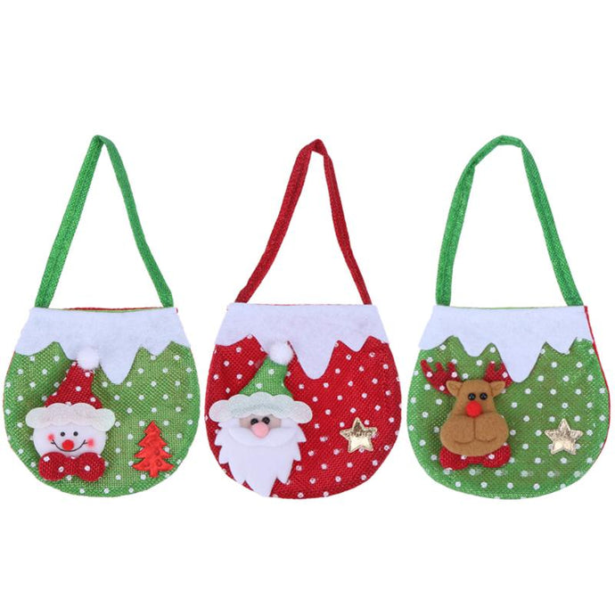 Creative Christmas New Year Candy Bags Hanging Christmas Gift Bags Santa Claus Snowman Elk Candy Bags Christmas decor