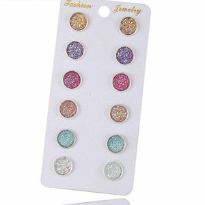 New Fashion Crystal Rhinestone Stud Earrings - 64 Corp