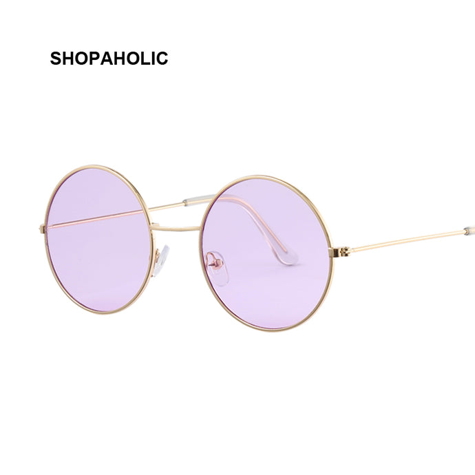 Vintage Round Sunglasses Women Ocean Color Lens Mirror Sunglasses Female Brand Design Metal Frame Circle Glasses Oculos UV400 - 64 Corp