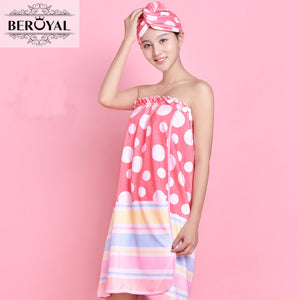 New 2016 Fashion toalha de banho  microfiber magic bath towel Solid Dressing Gown women spa wrap female towesl bathroom - 64 Corp