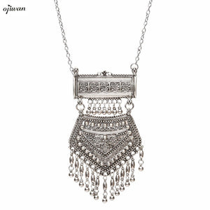 Boho Necklace Maxi Collier Plastron Ethnic Fringe Necklace Cowgirl Indian Native American Jewelry Navajo Online Shopping india - 64 Corp