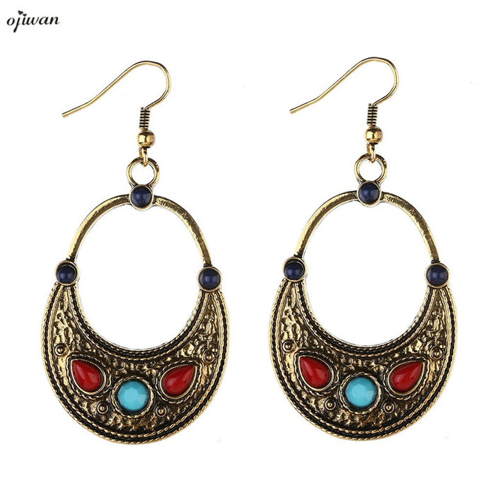 Aretes De Media Luna aritos Gypsy Earrings For Women Boho Earrings Hippie Tribal Earrings Indian Native American Jewelry Navajo - 64 Corp