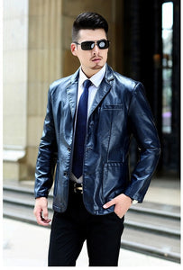 7 xl men's coats, men's increasing the size of the coat, leather jacket, recreational business men's wear coat, free shipping