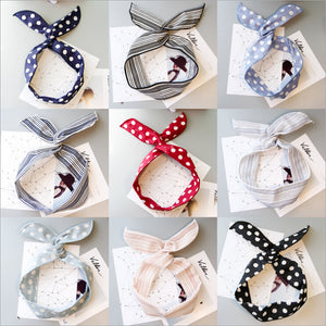 summer fashion rabbit bunny ears women bow headband hair head band hoop accessories for women girls scrunchy hairband headdress - 64 Corp