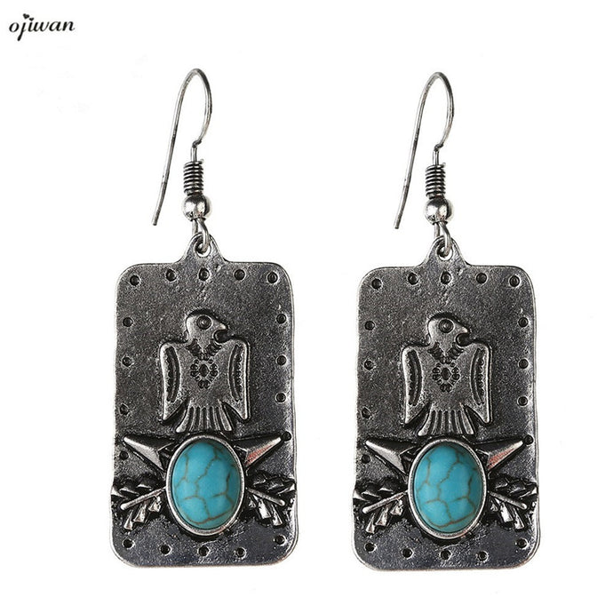 aritos Tribal Earrings Hippie Boho Indian Native American Jewelry Navajo Earrings Bohemian Earrings Art Deco Jewelry - 64 Corp