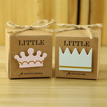 10pc/lot Baby Shower Newborn Baby Candy Box Little Prince Little Princess Crown Candy Boxes Lovely Babyshower Party Gift Boxes - 64 Corp