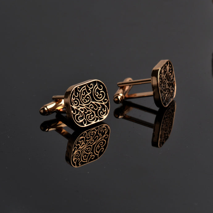 The high-end men's shirts Cufflinks collocation accessoriesgifts classic Mens Fashion Design carving high-quality Cufflinks - 64 Corp