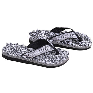 THINKTHENDO  New 1Pair Summer Soft Casual Men Flat Wedge Sandals Thong Flip Flops Massage Slipper Beach - 64 Corp