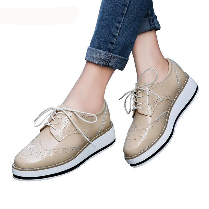 Female Flat Oxford Shoes - 64 Corp