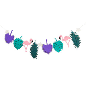Good Flamingo And Pineapple Banner Bunting Summer Party Birthday Photo Prop Tropical Party Hawaiian Bundles Decor