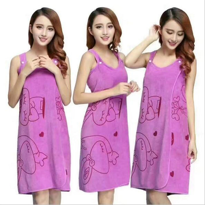 New Bath Towels Fashion Lady Wearable Fast Drying Magic Bath Towel Beach Spa Bathrobes Bath Skirt Dropshipping Toalhas De Banho - 64 Corp