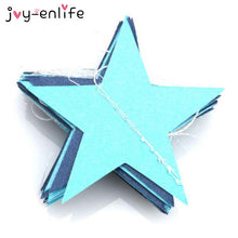 JOY-ENLIFE 1set Paper Star Banner Garlands 4M Birthday String Chain Banner Ornaments Curtain Wedding Party Room Decor Supplies