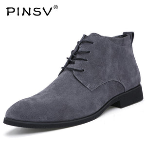 Winter Men Boots Cow Suede Leather Boots Men Winter Shoes Ankle Cowboy Boots For Men Shoes Botas Hombre Erkek Bot - 64 Corp