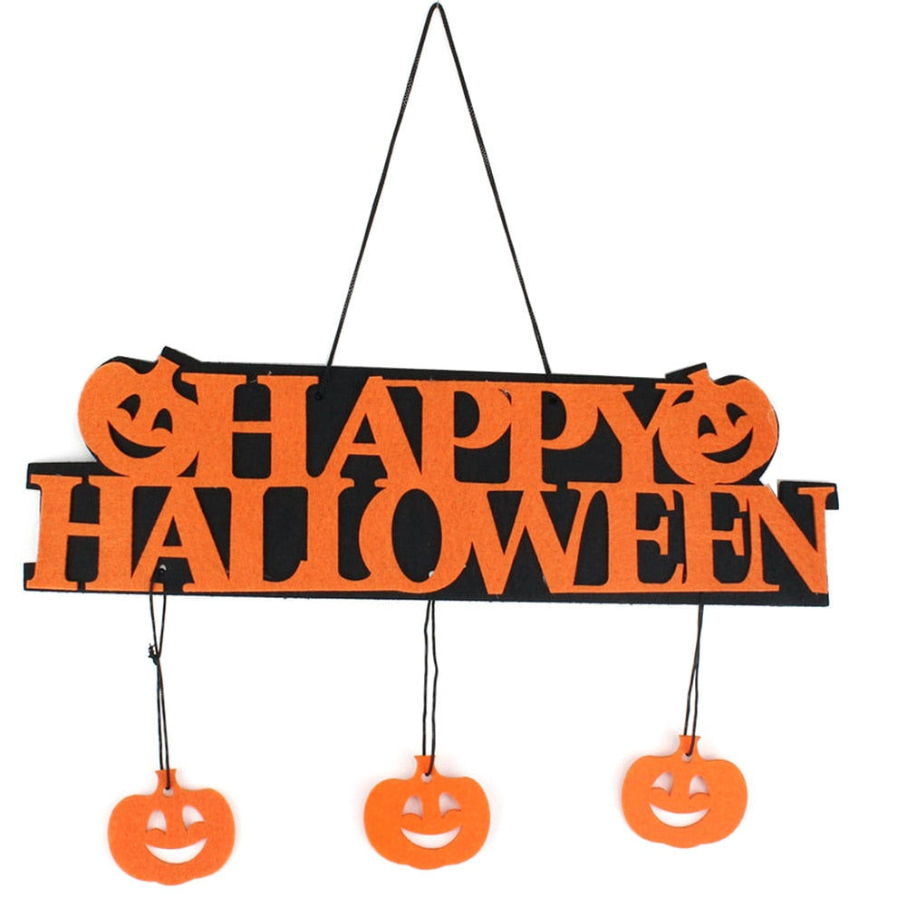 Halloween Decoration HAPPY HALLOWEEN Hanging Hangtag Halloween Window Decoration Halloween Pumpkin Hanging Strips PY0247