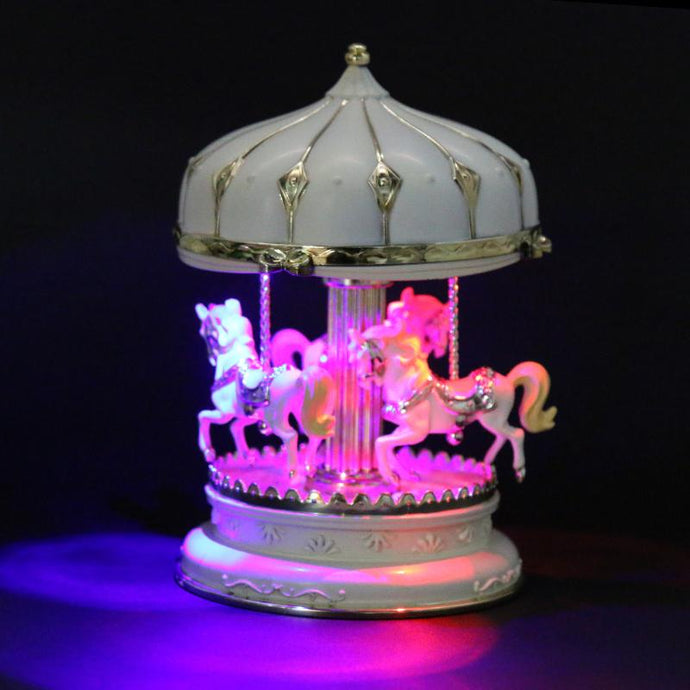 Carousel Music Box LED Light Merry-Go-Round Kids Children Girls Christmas Birthday Gift Toy Wedding Party Holiday Decoration