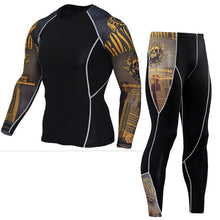 JACK CORDEE 3D Print Men Sets Compression Shirts + Leggings Base Layer Crossfit Fitness Brand MMA Long Sleeve T Shirt Tight Tops - 64 Corp