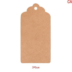 100pcs/Lot Kraft Tags Present Gift Labels Christmas Tree Decor Blank Hang Tag Xmas Christmas Party DIY Crafts LTW1426