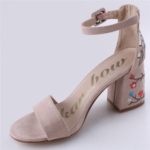 Embroider High Heel Women Sandals - 64 Corp