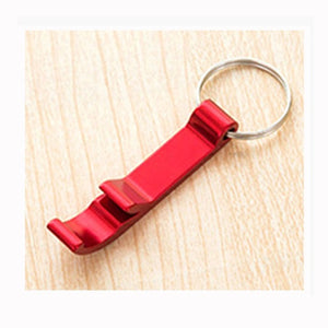 Portable 4 in 1 Bottle Opener Key Ring Chain Keyring Keychain Metal Beer Bar Tool Claw Gift
