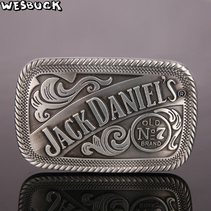 WesBuck Brand JACK DANIEL'S Flower Meltal Cool Belt Buckles For Men's Belt Buckle Western Cowboy Cowgir Boucle Ceinture Homme - 64 Corp