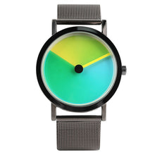 Geek Stylish Men Watch Creative Colorful Vortex Dial Stainless Steel Mesh Band Minimalist Spiral Quartz Wristwatch Sci-fi Clocks - 64 Corp