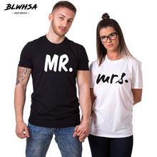 BLWHSA Lovers Couple T shirt Women Men Newest Valentines Gift Printing Mrs Mrs Couple Summer Matching Clothes  For Lovers - 64 Corp