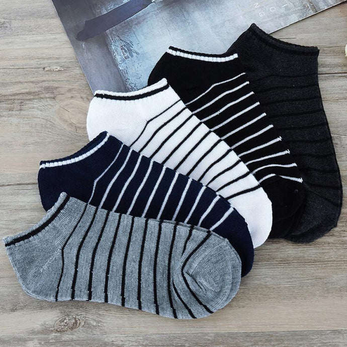 MUQGEW Hot Sale Comfortable 1Pair Unisex Comfortable Stripe Cotton Sock Slippers Short Ankle Socks New Arrival Breathable Soxs - 64 Corp