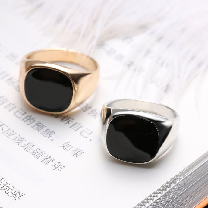 CLASSIC ENAMELED RINGS FOR MEN - 64 Corp