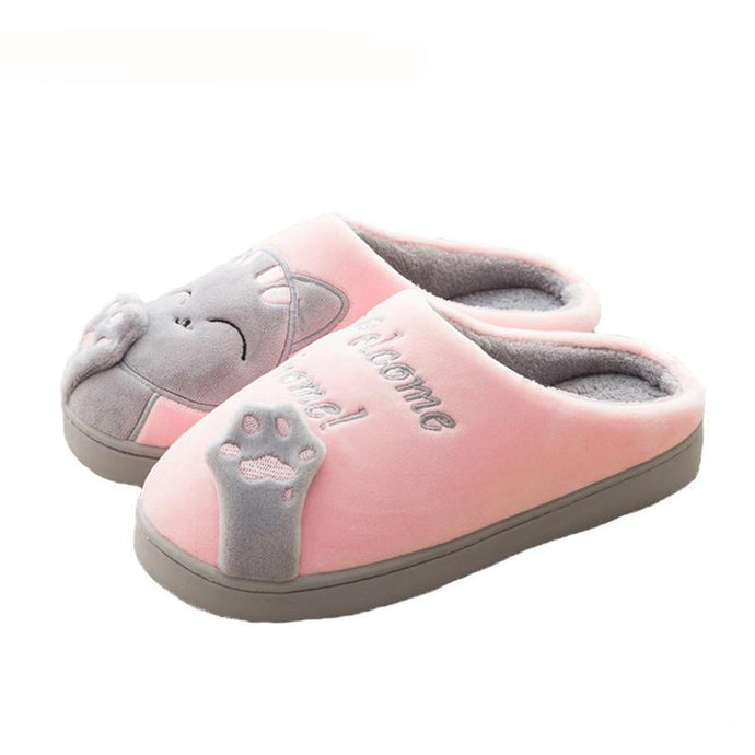 Women Cartoon Cat Home Slippers - 64 Corp