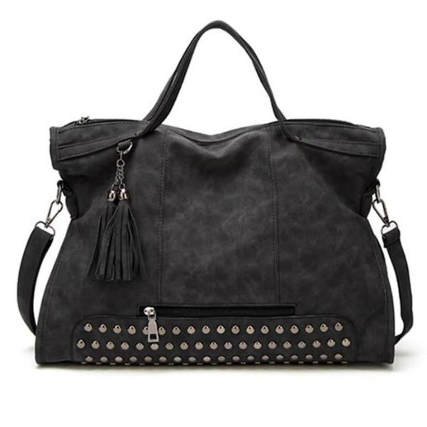 High Capacity Tassel Crossbody Bag - 64 Corp