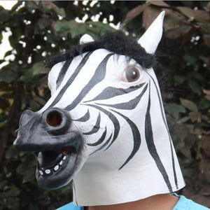New Years Horse Head Mask Animal Costume n Toys Party Halloween 2018 New Year Decoration