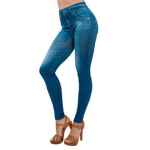 2017 New Hot Jeans for Women Denim Pants with Pocket Pull Cashmere Body Imitation Cowboy Skinny Leggings Women Fitness Plus size - 64 Corp