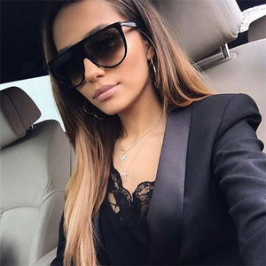 MOLNIYA Oversized Square Sunglasses Women Designer Brand Big one lens mans black Sun Glasses female uv400 transparent Frame - 64 Corp