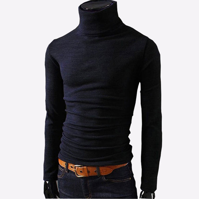 Casual Turtleneck Slim Fit Sweater - 64 Corp