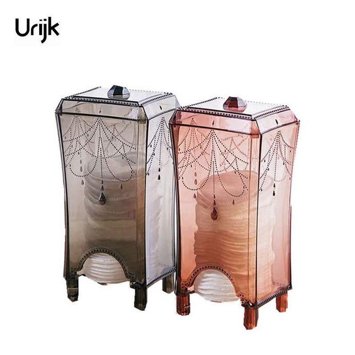 Urijk Cotton Pad Makeup Storage Box Makeup Organizer for Cosmetics Boxes Storage Organizer Make up Desk Accessories Organizer - 64 Corp