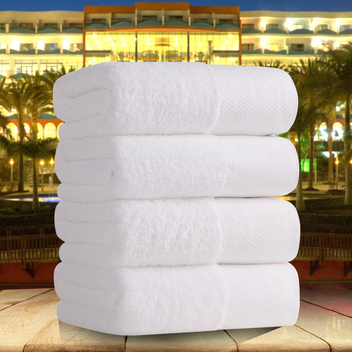 Five-star hotel pure white cotton towel thick bath towel super soft strong absorbent towel spa /Beauty salon/resturant supplies - 64 Corp