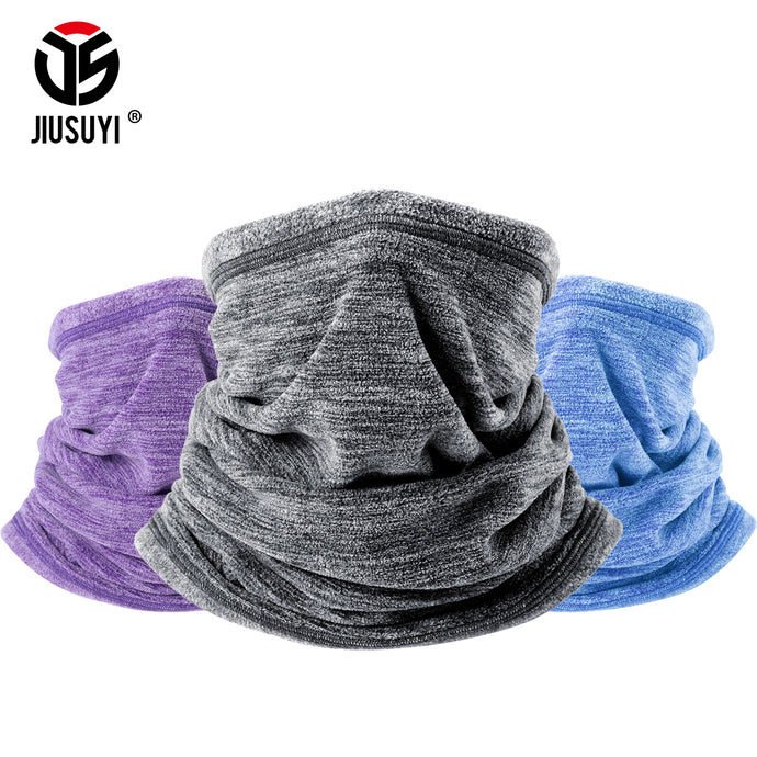 Cold Weather Polar Fleece Wool Thermal Neck Gaiter Tube Warmer Half Face Mask Winter Snowboard Scarf Headband Bandana Men Women - 64 Corp