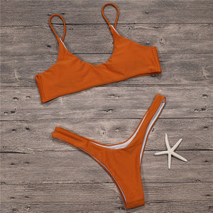 Sexy Micro Bikini Plus Size Swimwear Push Up Thong - 64 Corp