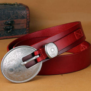 2018 fashion brand full grain 100% genuine leather belt high quality sashes famale casual belts for women cowgirl size 38 jeans - 64 Corp