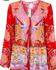 Floral print thin jacket - 64 Corp