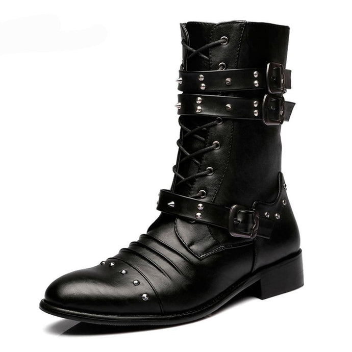 Military Mid Calf Boots - 64 Corp