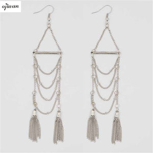 Bohemian Earrings Gypsy Tassel Earrings aritos Chandelier Earrings Shoulder Duster Earrings Hippie Chic Boho Cowgirl Jewelry - 64 Corp