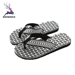 Men Summer Comfortable Massage Flip Flops Shoes Sandals Male Slipper indoor & outdoor Flip-flops Casual Beach Shoes 40-44 - 64 Corp