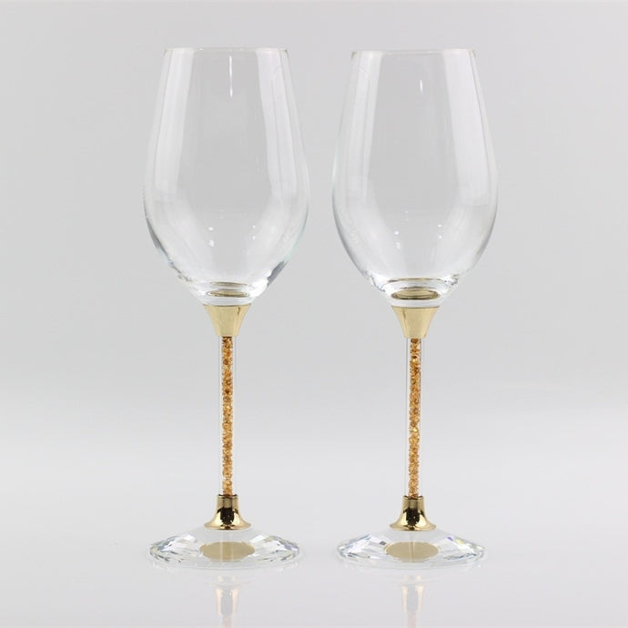 Wedding glasses crystal toasting red wine goblet gold stemware drinking glass gifts for anniversary celebration