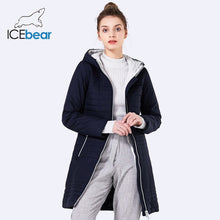 ICEbear 2018 Spring Autumn Long Cotton Women's Coats With Hood Fashion Ladies Padded Jacket Parkas For Women 17G292D