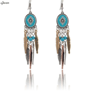 aritos Ethnic Earrings aretes Boho Hippie Earrings For Women Tribal Earrings Native American Jewelry Navajo Gypsy Bohemian Aros - 64 Corp