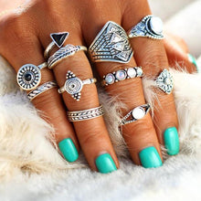 Vintage Crystal Opal Knuckle Statement Rings - 64 Corp