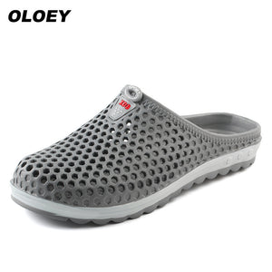 Hot New 2018 Summer EVA Massage Slippers Unisex Sandals Men Sandals Fashion Hollow Out Breathable Beach Slippers Flip Flops - 64 Corp